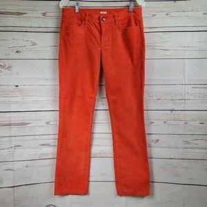 J Crew Matchstick orange bootcut corduroy pants 28